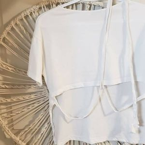 Zara white crop